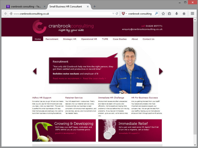 Cranbrook Consulting Website Design