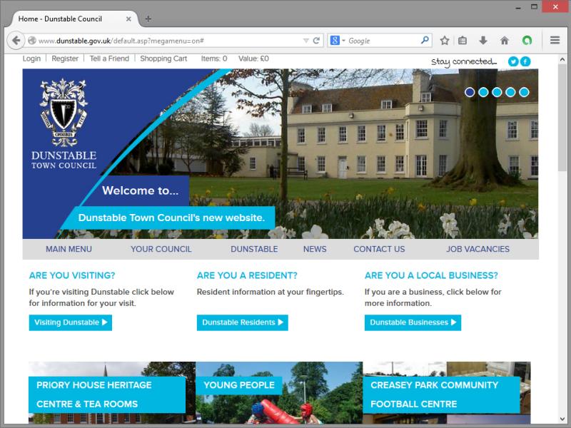 Dunstable Town Council Website Design