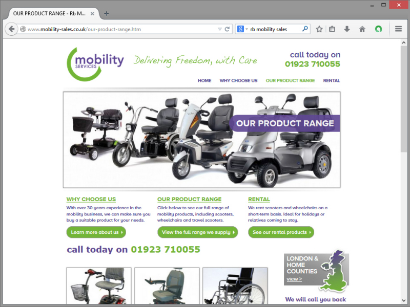 Mobility Services Website Design