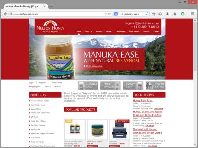 Nelson Honey Website Design