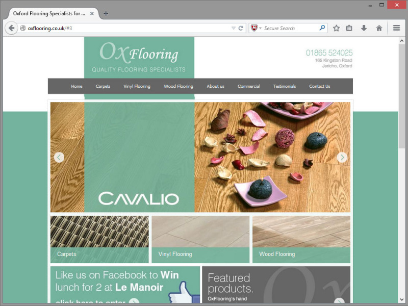 Ox Flooring Website Design