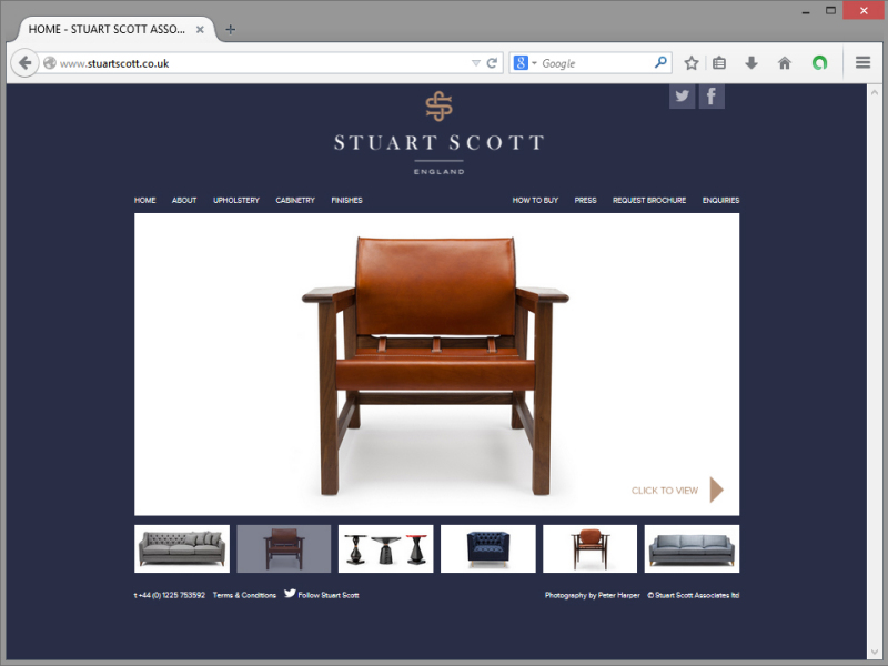 Stuart Scott Website Design