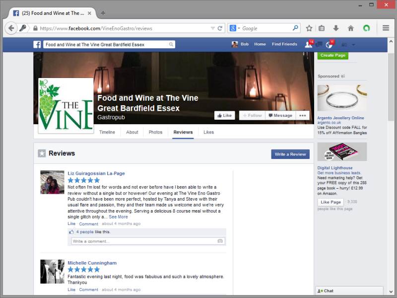 The Vine Facebook Page
