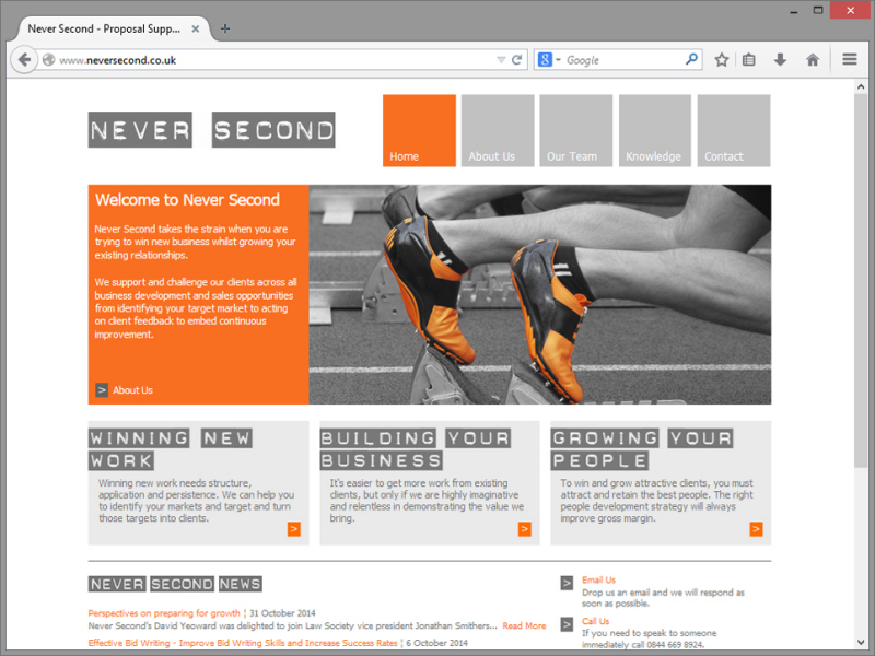 Never Second Website