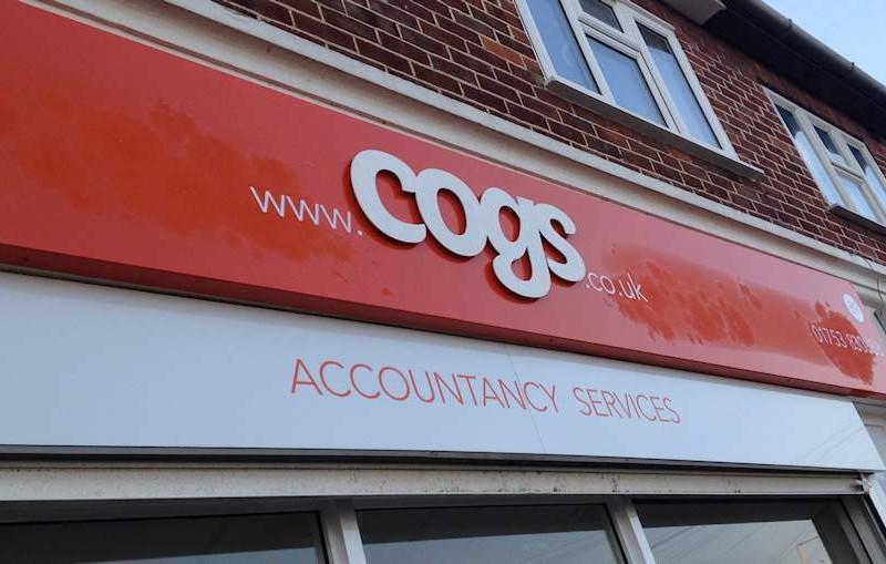 Cogs Signage