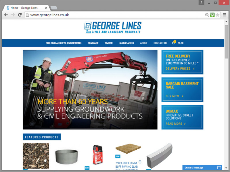 George Lines (Builders Merchants) Website