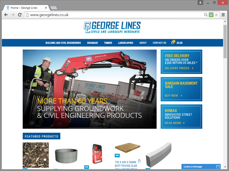 george lines builders merchants website