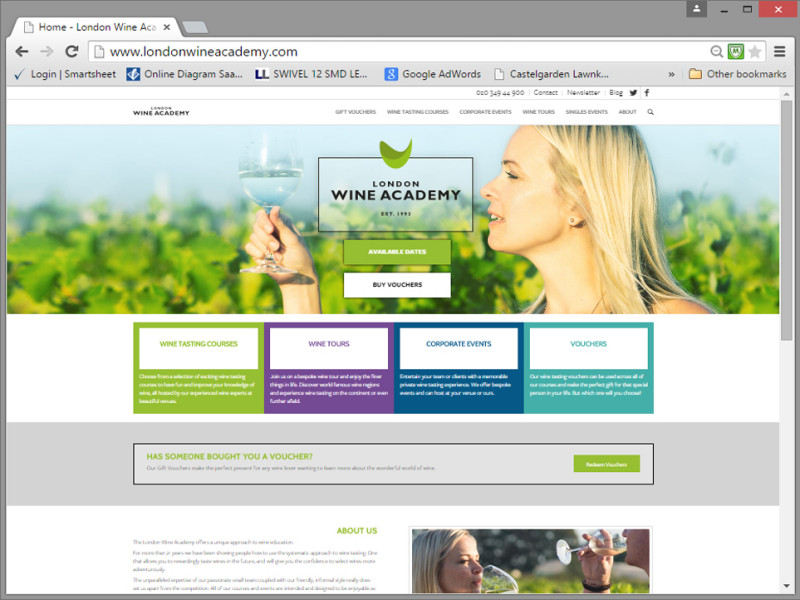London Wine Academy Website