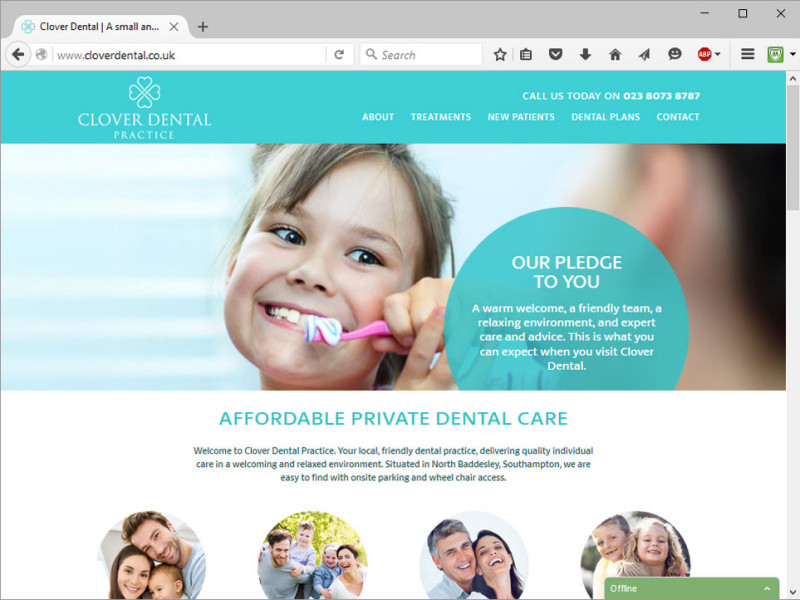 Clover Dental Practice Website