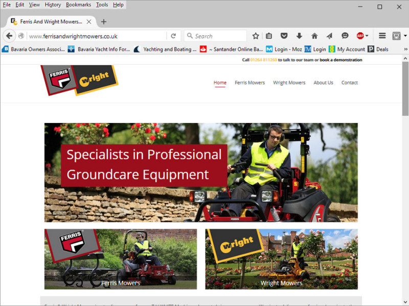 Ferris & Wright Mowers website