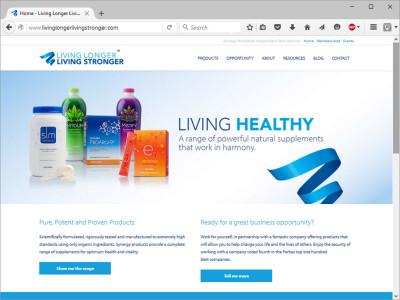 Living Longer Living Stronger website