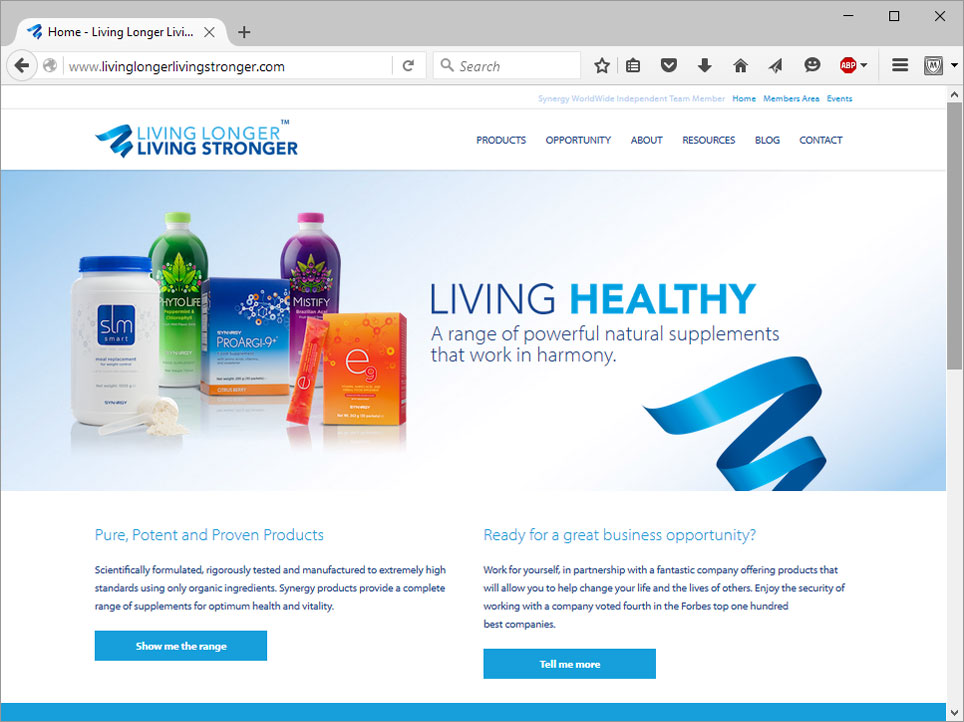 health products website