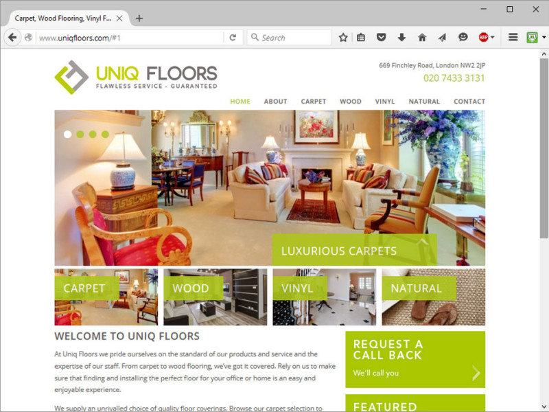 Uniq Floors Website
