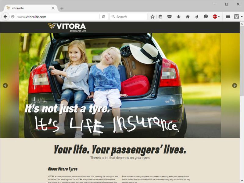 Vitora Tyres Website