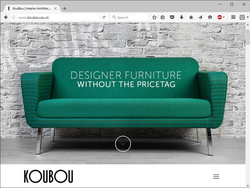 Koubou Furniture Website
