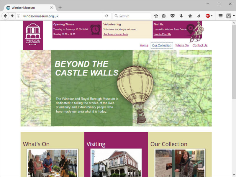 Windsor Museum website