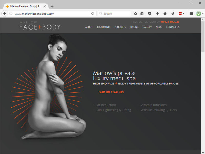 Marlow Face & Body Website