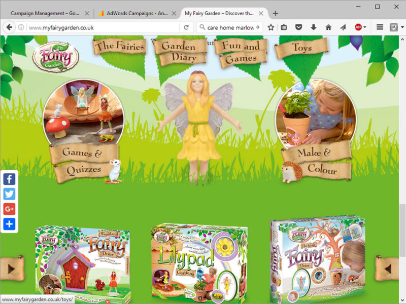 My Fairy Garden website