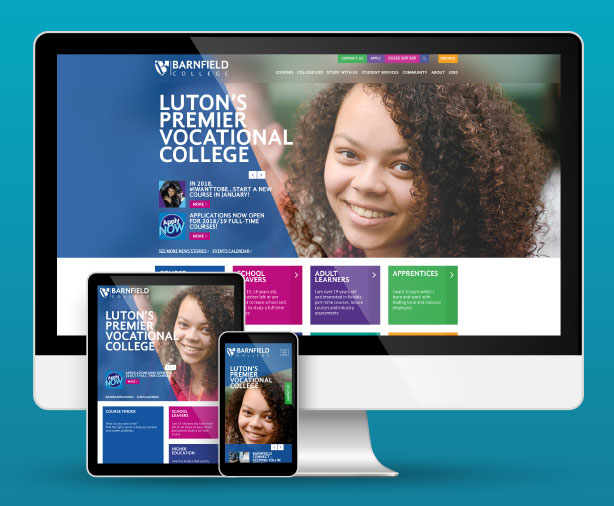 Barnfield College website